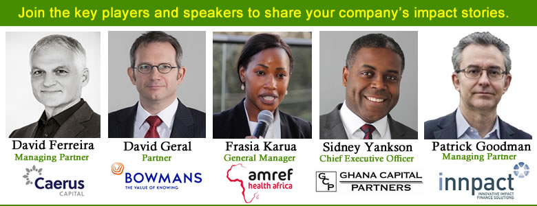 Additional Speakers, High-Impact Funds and Enterprises Opportunities