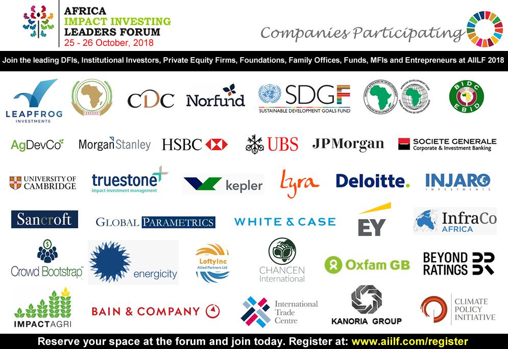 Companies Attending in October 2018